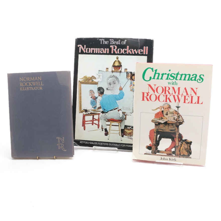 """First Edition """"Christmas with Norman Rockwell"""" and More, Mid/Late 20th Century"""