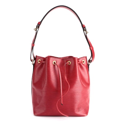 Louis Vuitton Noé Bucket Bag in Red Epi Leather