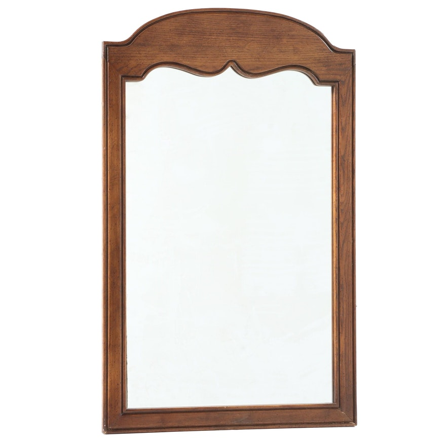 French Provincial Style Oak Mirror, Mid to Late 20th Century