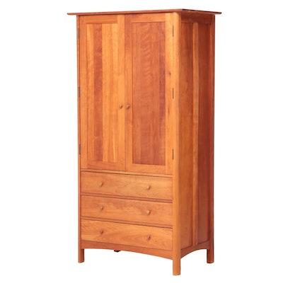 """Vermont Furniture Designs """"Modern Shaker"""" Cherrywood Armoire"""