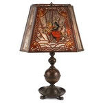 Handel Medieval Horse and Knight Eight-Panel Squared Glass Shade Lamp