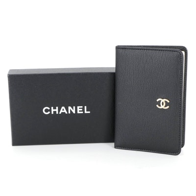 Chanel Address Book Cover in Black Leather