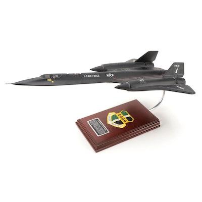 Lockheed SR-71A Blackbird Model with Mahogany Base