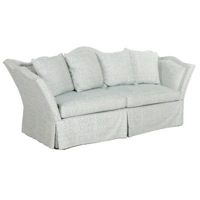 Century Furniture Camelback Damask Sofa, 21st Century