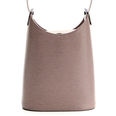 Louis Vuitton Verseau Bag in Lilac Epi and Smooth Leather