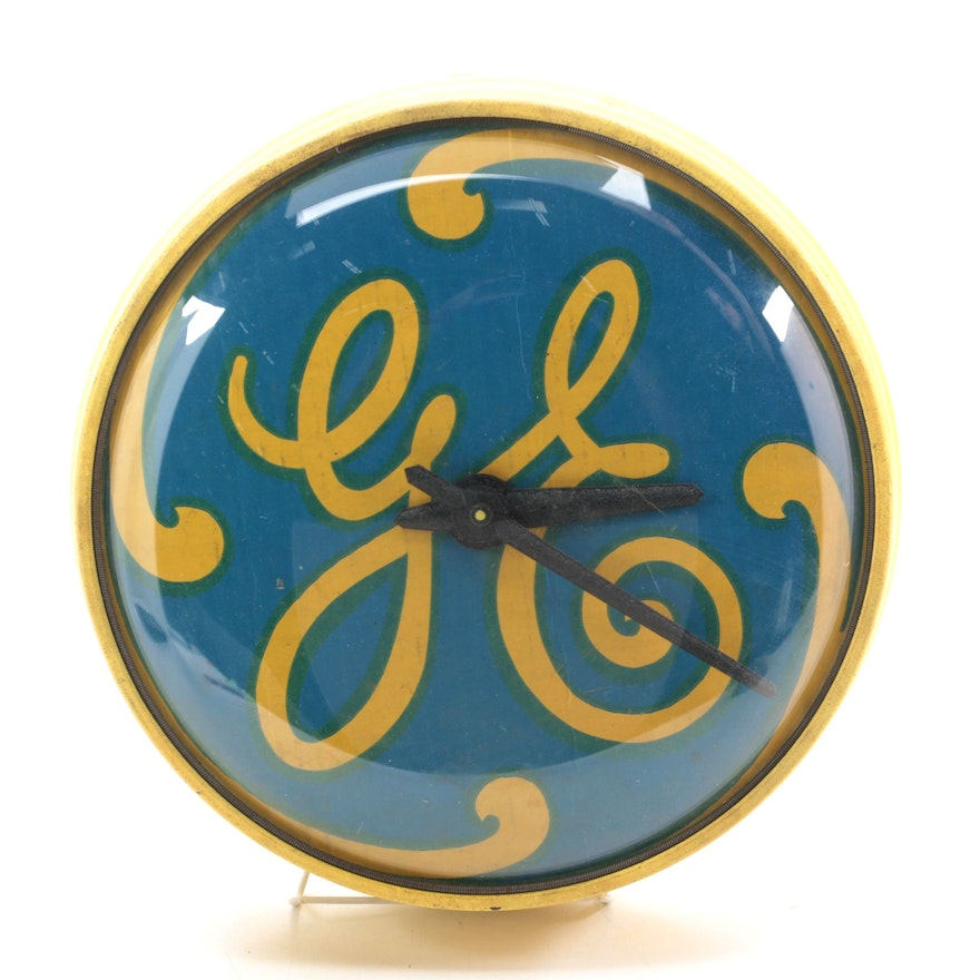 Simplex Time Recorder GE Wall Clock, Mid-20th Century