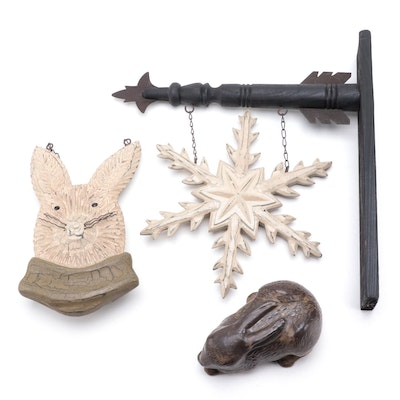 Bing and Grøndahl Stoneware Rabbit Figural and Other Decorative Accents