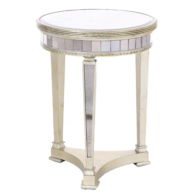 """Bassett Mirror Company """"Borghese"""" Mirrored Round Accent Table"""