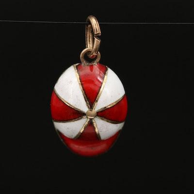 Vintage 14K Enamel Jockey Cap Charm