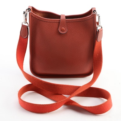 Hermès Evelyne I PM Crossbody in Sienne Clemence Leather