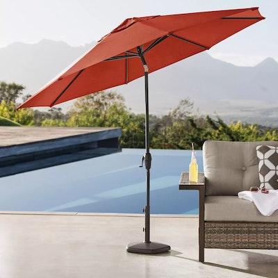 Member's Mark Premium 10' Sunbrella Market Umbrella with Cover in Grenadine