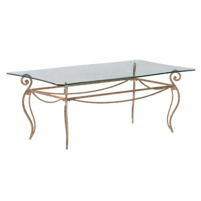 Regency Style Glass Top Coffee Table