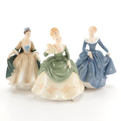 "Royal Doulton ""Soirée,"" ""Fragrance,"" and ""Elegance"" Bone China Figurines"