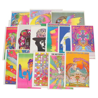 """Offset Lithographs after Peter Max From """"The Peter Max Poster Book,"""" 1970"""