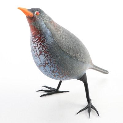 Shane Fero Handblown Studio Art Glass Bird