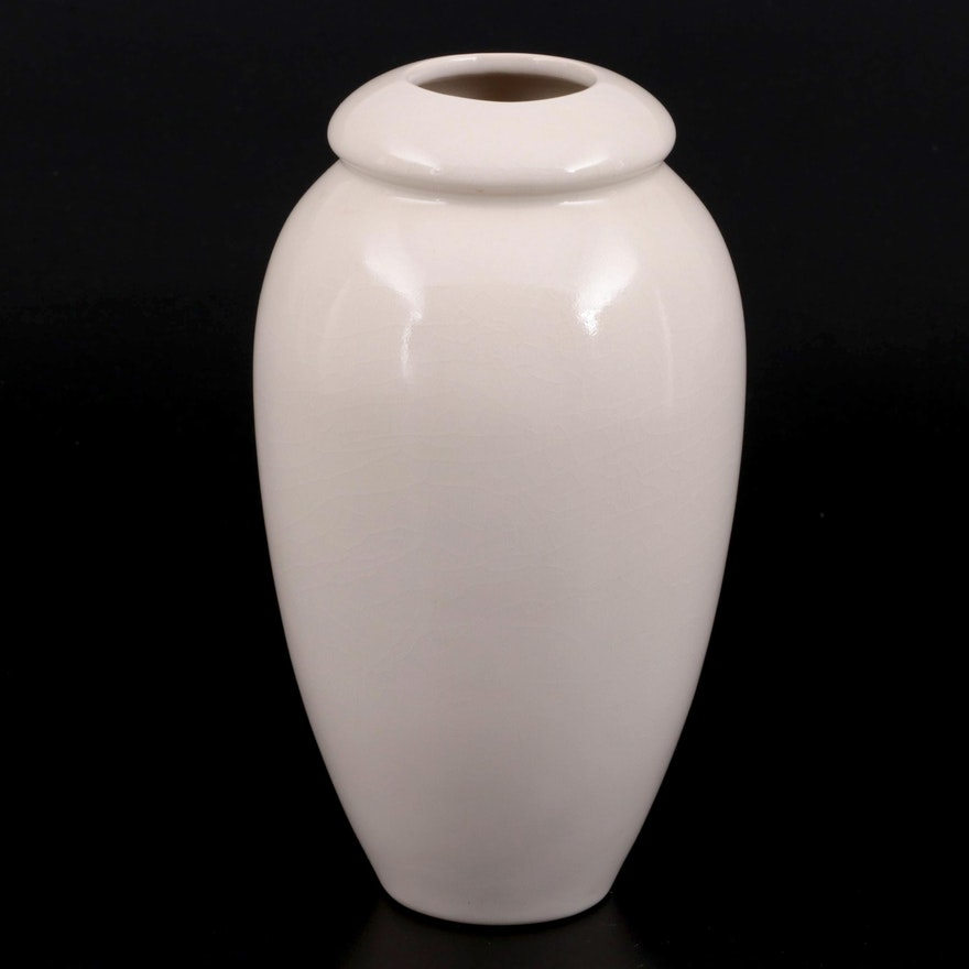 Rookwood Pottery Ivory Glaze Ceramic Vase, 2013