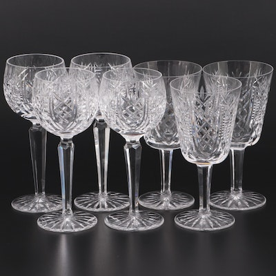"""Waterford """"Clare"""" Crystal Wine Hocks and Water Goblets"""
