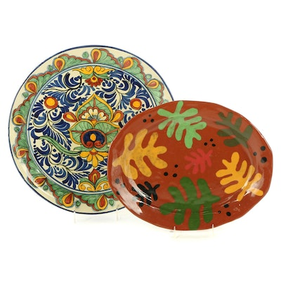 Mexican Hand-Painted Decorative Ceramic Plates