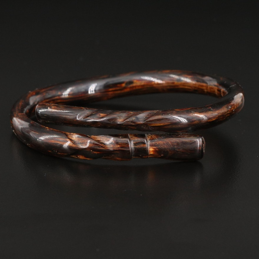 Coral Bypass Bangle