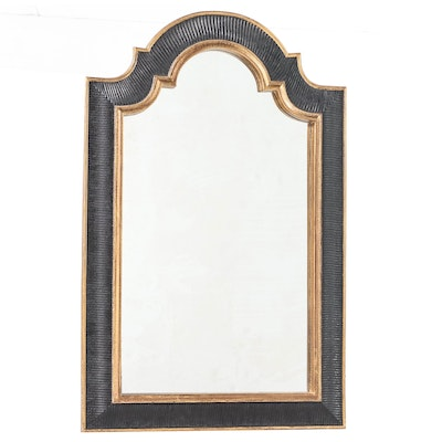 Uttermost Black and Gold Painted Composite Frame Wall Mirror