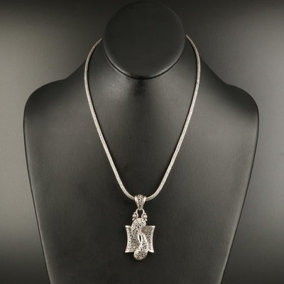 Sarda Sterling Pendant Necklace