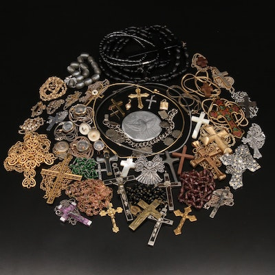 Evangelical Jewelry Collection Featuring Crown Trifari and Van Dell