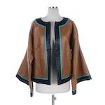 """Barbara King """"Grace in Flight"""" Butterfly Leather Jacket"""