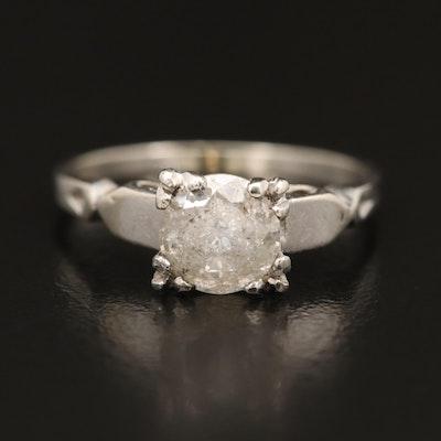 Vintage 14K Diamond Solitaire Ring