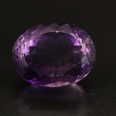 Loose 20.52 CT Oval Faceted Amethyst