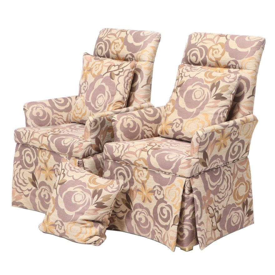 Pair of Custom-Upholstered Armchairs
