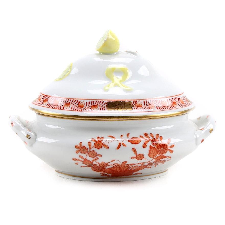 "Herend ""Chinese Rust"" Mini Lidded Porcelain Tureen"