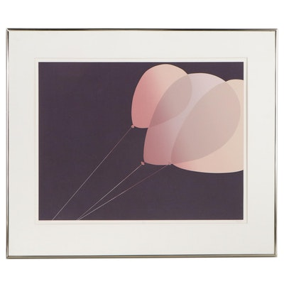 "Serigraph ""Gina's Balloon,"" Late 20th Century"