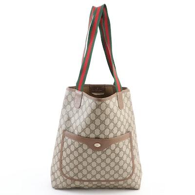 Gucci Accessory Collection Tote Bag in GG Supreme Canvas with Web Straps