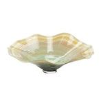 Barbara Bonardi Handcrafted Scalloped Rim Art Glass Bowl