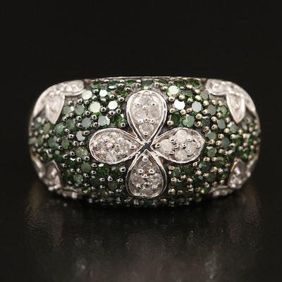 Sterling Pavé 1.11 CTW Diamond Ring