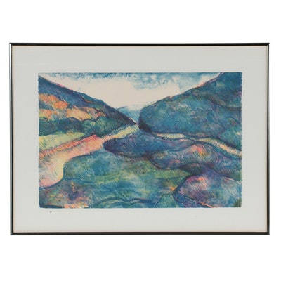 "Daniel L. Ziembo Color Lithograph ""Gap,"" 1977"