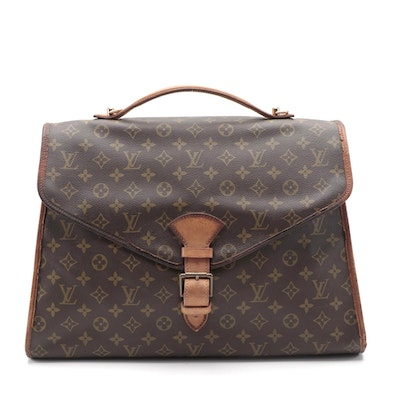 Louis Vuitton Beverly Briefcase GM Bag in Monogram Canvas with Leather Trim
