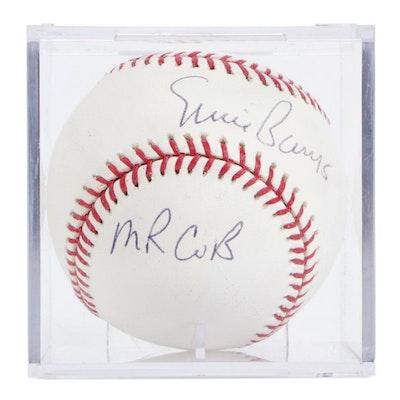 "Ernie Banks Signed ""Mr. Cub"" Rawlings Major League Baseball"