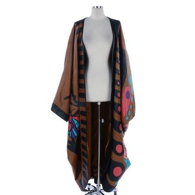 """Barbara King """"Grace in Flight"""" Butterfly Leather Cocoon Coat"""