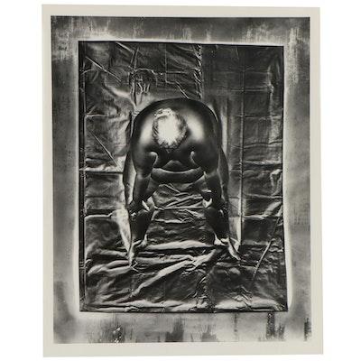 "Don Jim Solarized Silver Gelatin Photograph from ""Lavish Lola,"" Circa 1985"