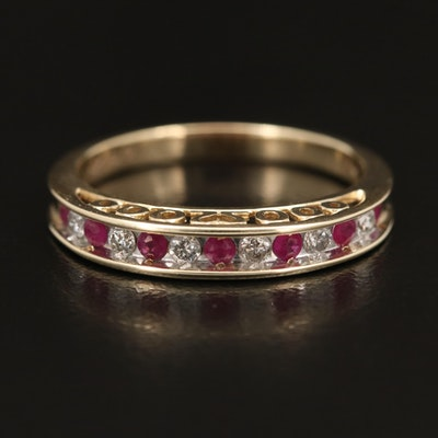 10K Ruby and Diamond Band