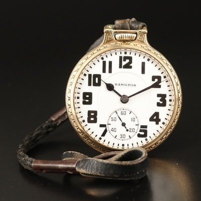 1937 Hamilton 10K Gold Filled Railroad Grade Pocket Watch