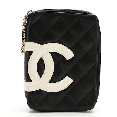 Chanel Cambon Ligne Makeup Case in Quilted Calfskin Leather