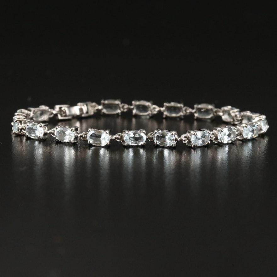 Sterling Silver Aquamarine Bracelet