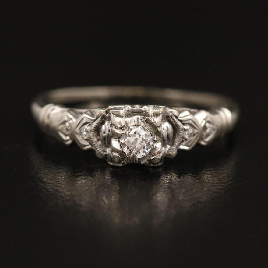 Vintage 14K Diamond Ring