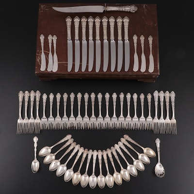 """Reed and Barton """"French Renaissance"""" Sterling Silver Flatware with Gorham Spoon"""