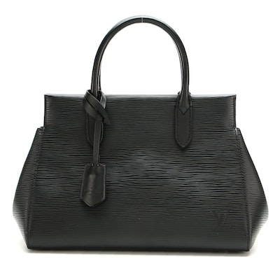 Louis Vuitton Marly BB Bag in Black Epi/Smooth Leather
