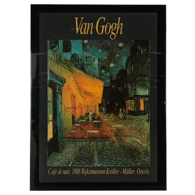 "Halftone after Vincent Van Gogh ""Cafe de Nuit"""