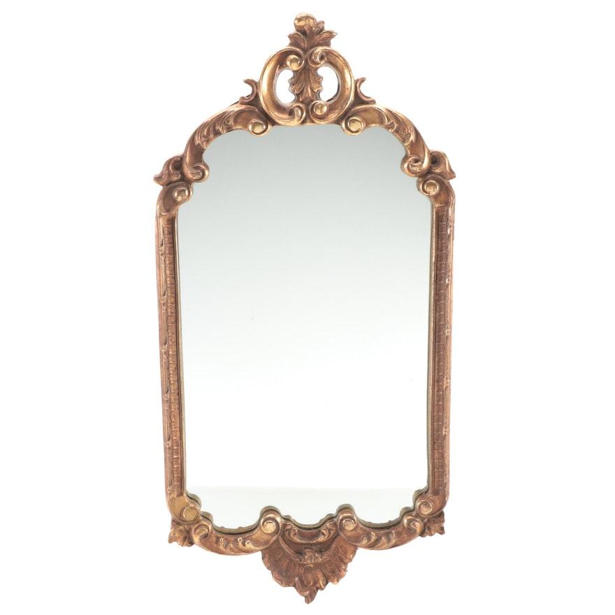 Victorian Style Gilt Framed Wall Mirror, Mid-20th Century