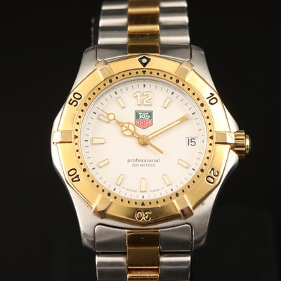 TAG Heuer 2000 Two-Tone Stainless Steel Quartz Wristwatch